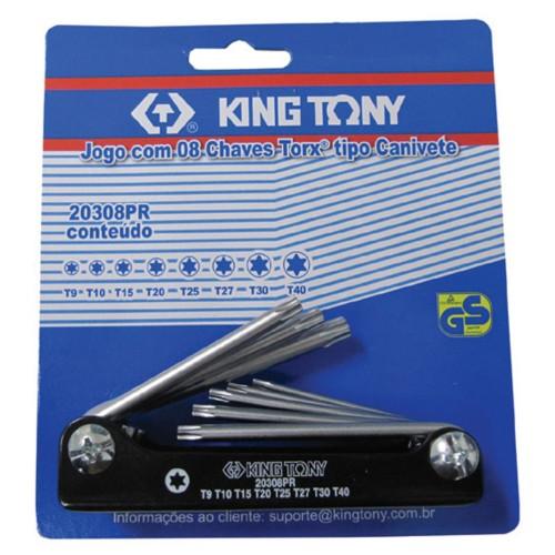 Canivete Torx 8pçs KINGTONY