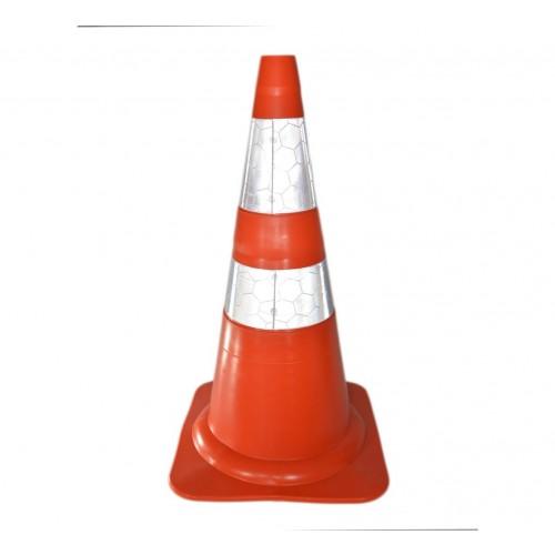Cone de sinalização refletivo 75cm