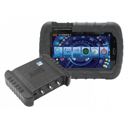 Kit Scanner Raven 3 Scope com Tablet para Diagnóstico Injeção Eletrônica